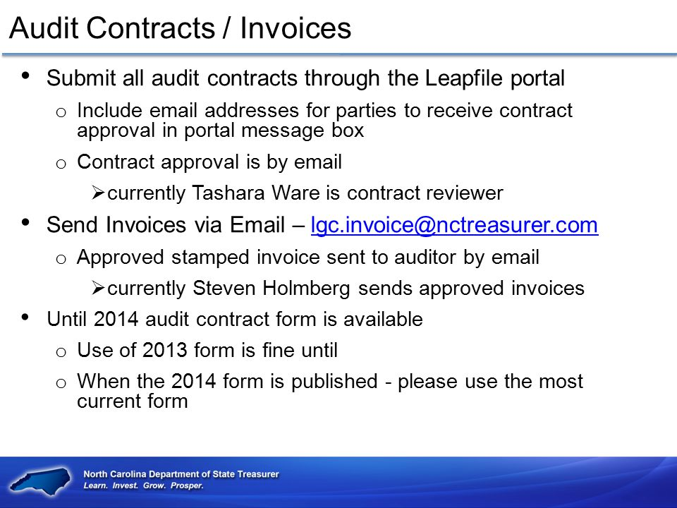 Audit Contracts / Invoices
