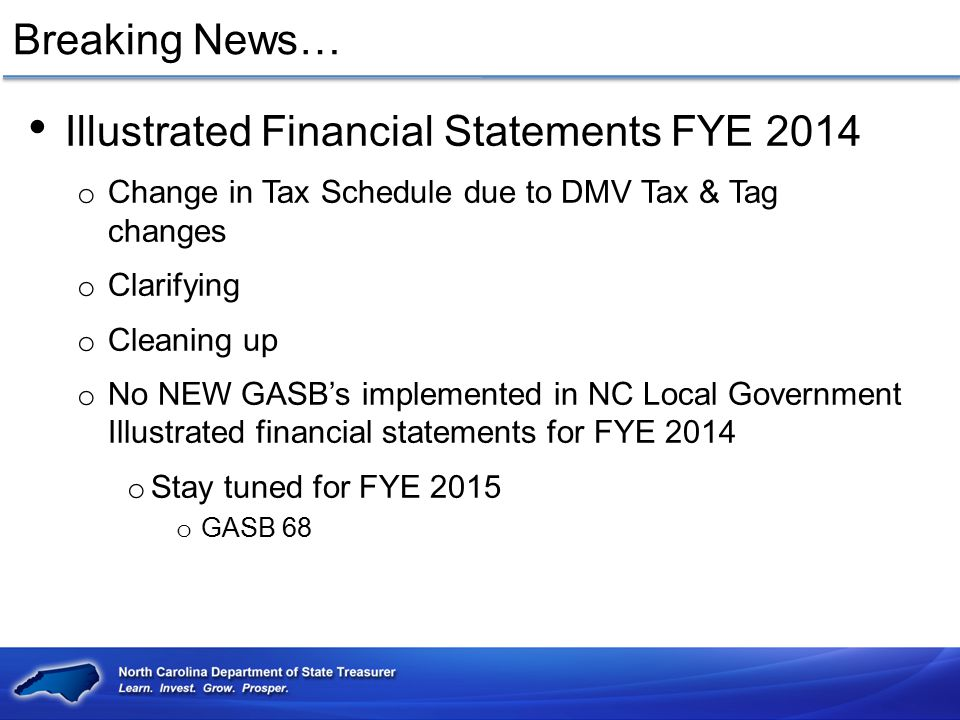 Illustrated Financial Statements FYE 2014