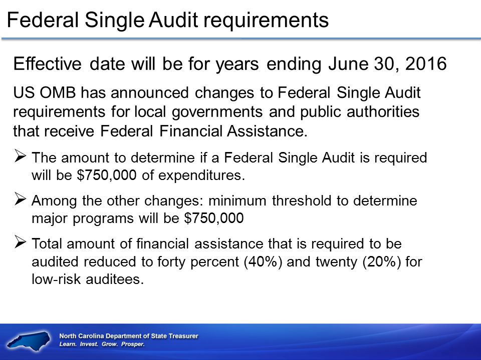 Federal Single Audit requirements