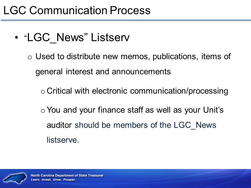 LGC Communication Process