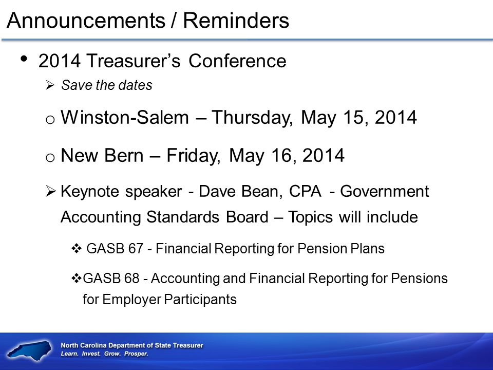 Announcements / Reminders