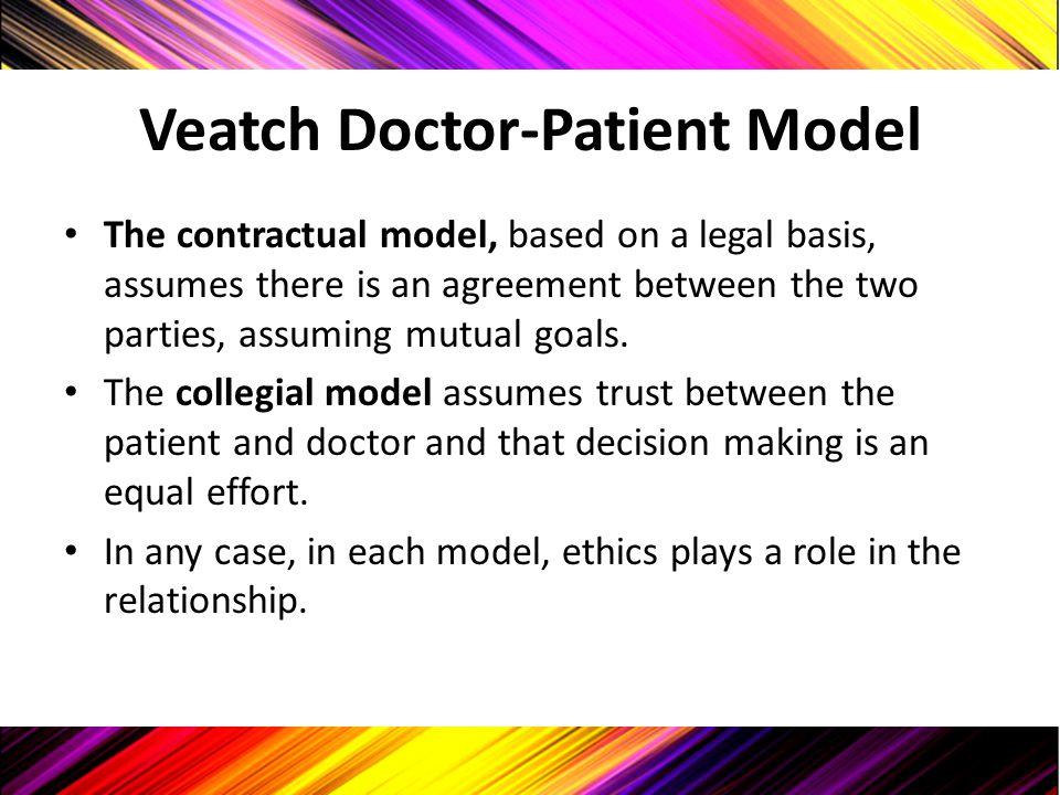 Veatch Doctor-Patient Model