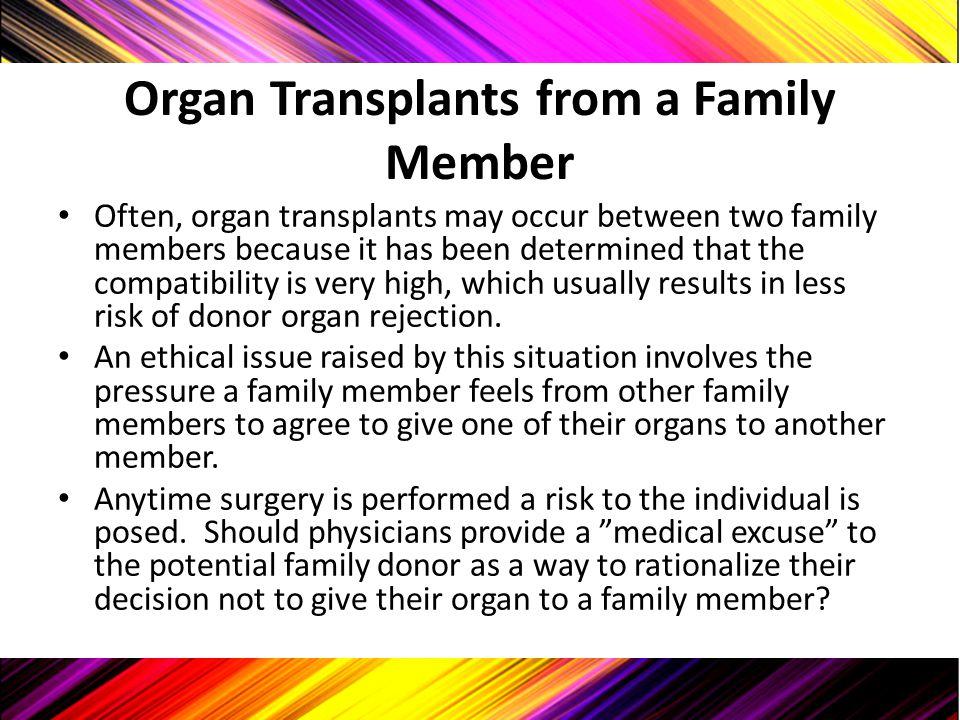 Organ Transplants from a Family Member