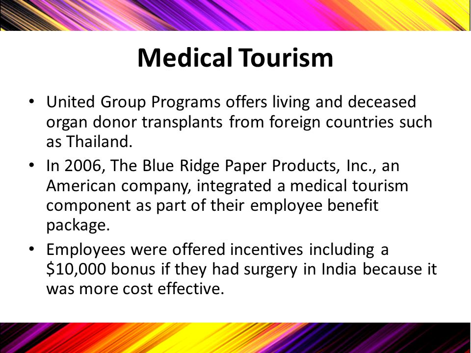 Medical Tourism United Group Programs offers living and deceased organ donor transplants from foreign countries such as Thailand.