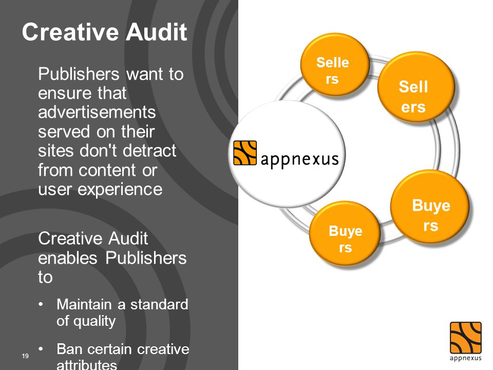 Creative Audit Sellers. Sellers.