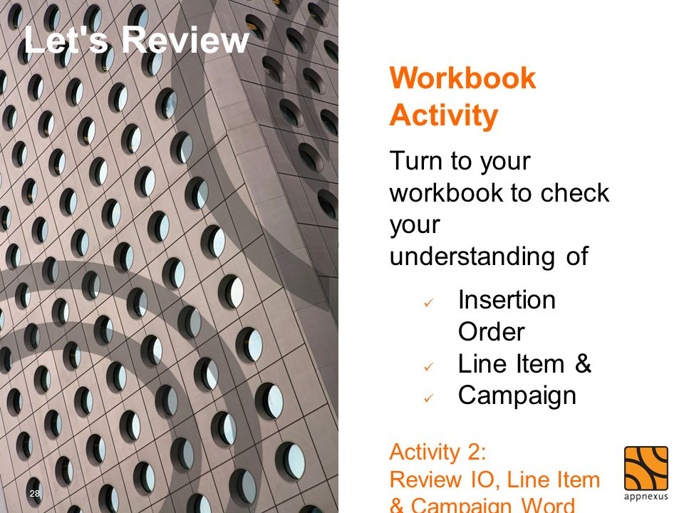 Let s Review Workbook Activity