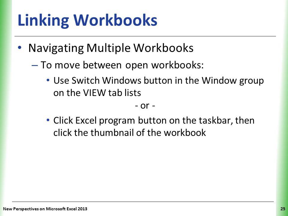 Linking Workbooks Navigating Multiple Workbooks