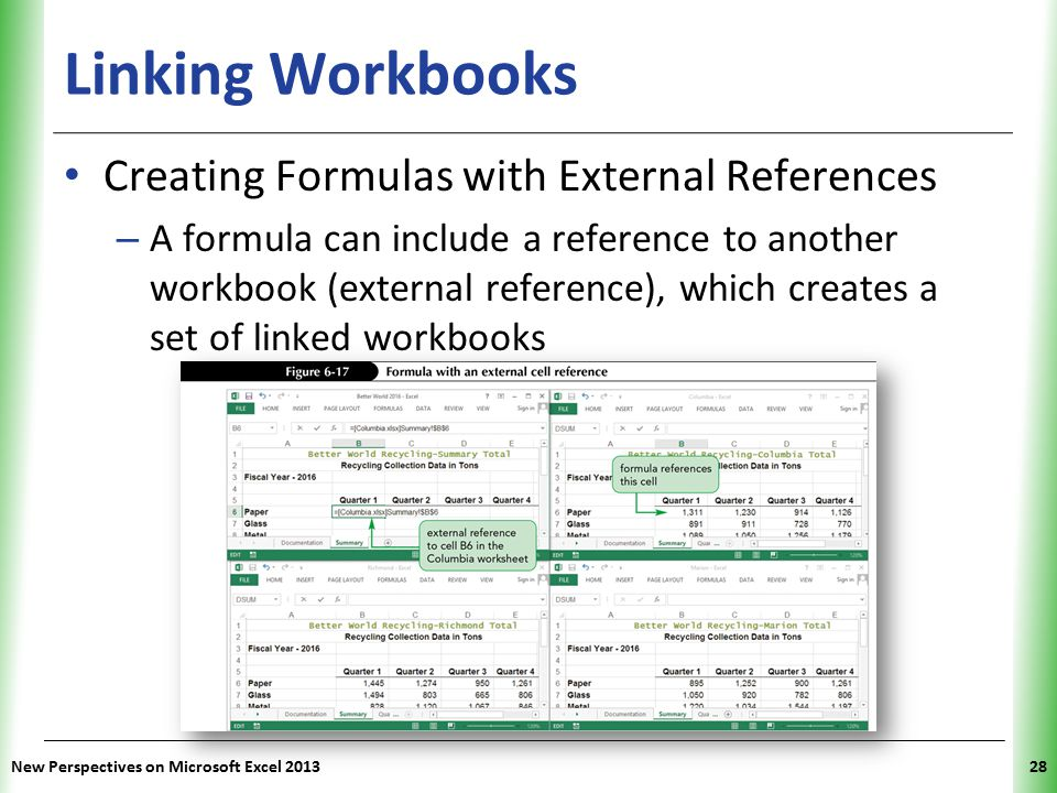 Linking Workbooks Creating Formulas with External References