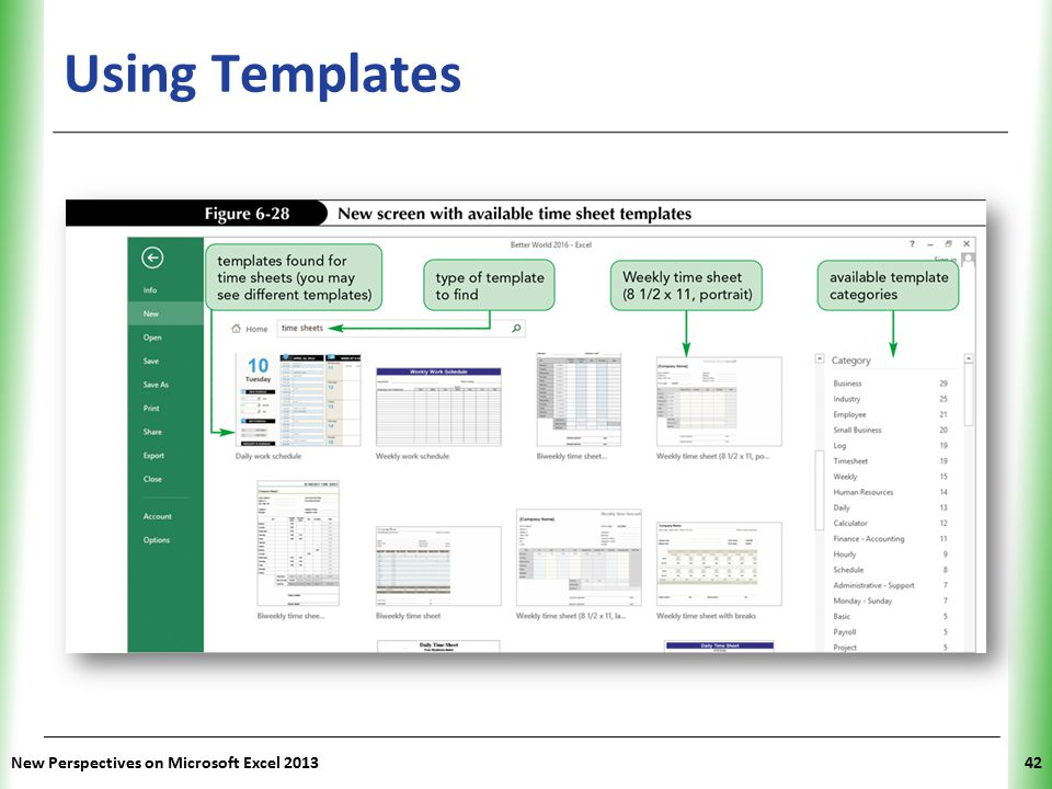Using Templates New Perspectives on Microsoft Excel 2013