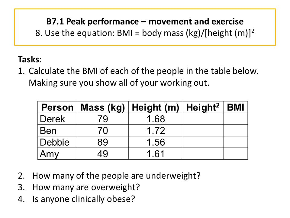 B7. 1 Peak performance – movement and exercise 8