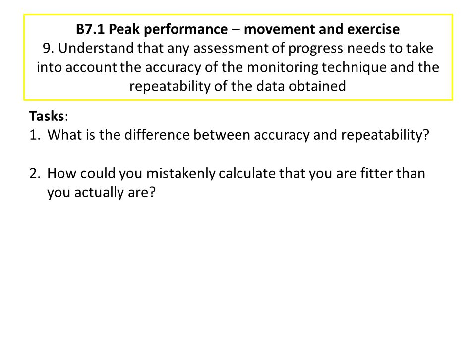 B7. 1 Peak performance – movement and exercise 9