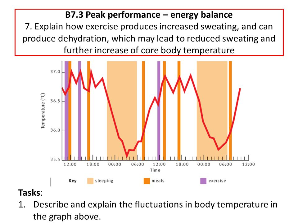 B7. 3 Peak performance – energy balance 7
