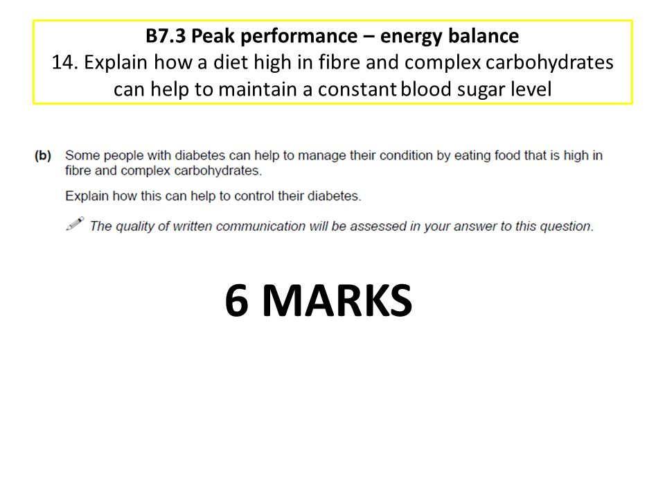 B7. 3 Peak performance – energy balance 14
