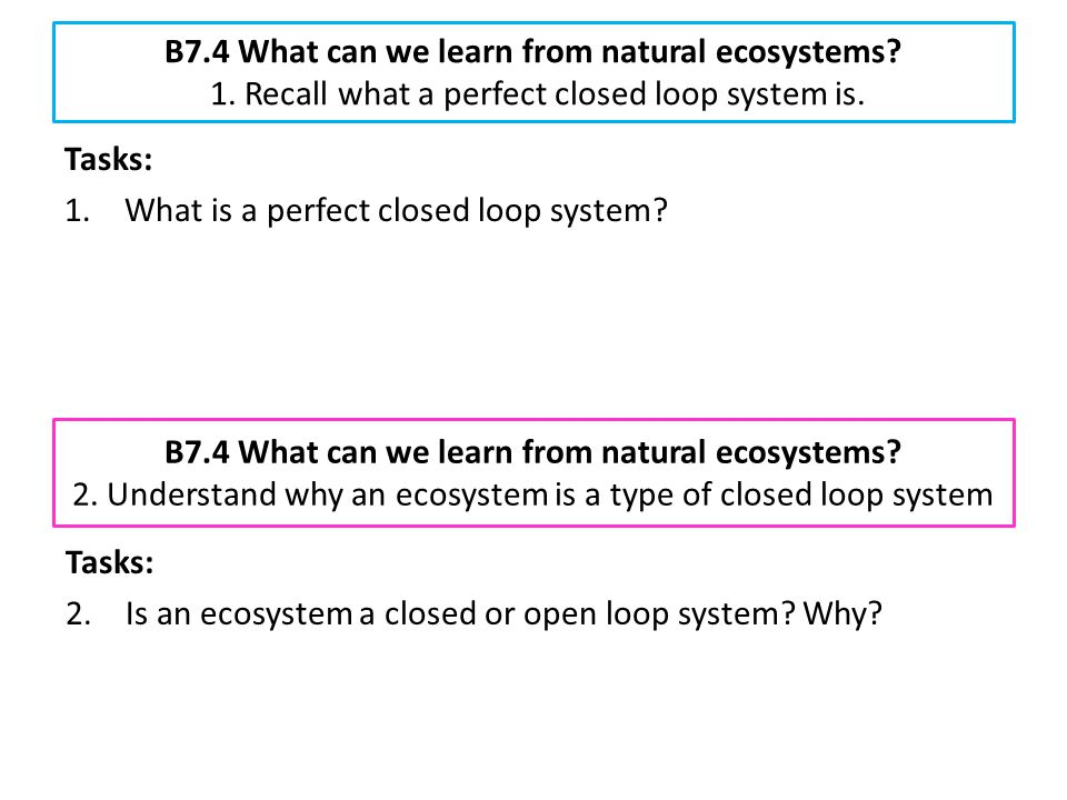 B7. 4 What can we learn from natural ecosystems. 1