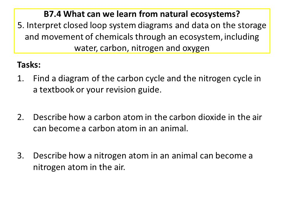 B7. 4 What can we learn from natural ecosystems. 5