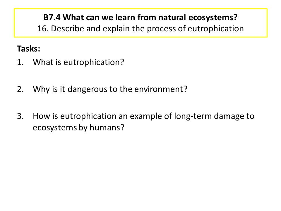 B7. 4 What can we learn from natural ecosystems. 16