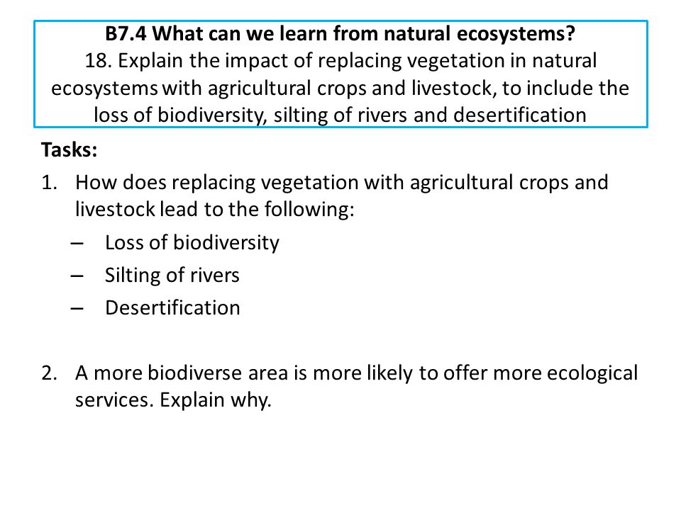 B7. 4 What can we learn from natural ecosystems. 18