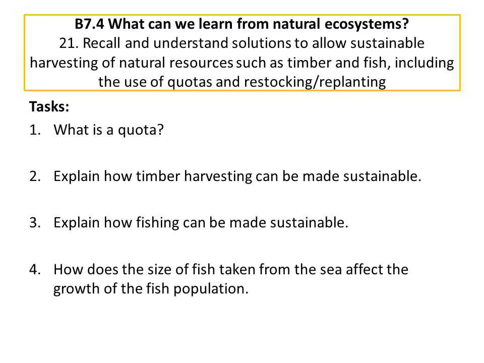 B7. 4 What can we learn from natural ecosystems. 21