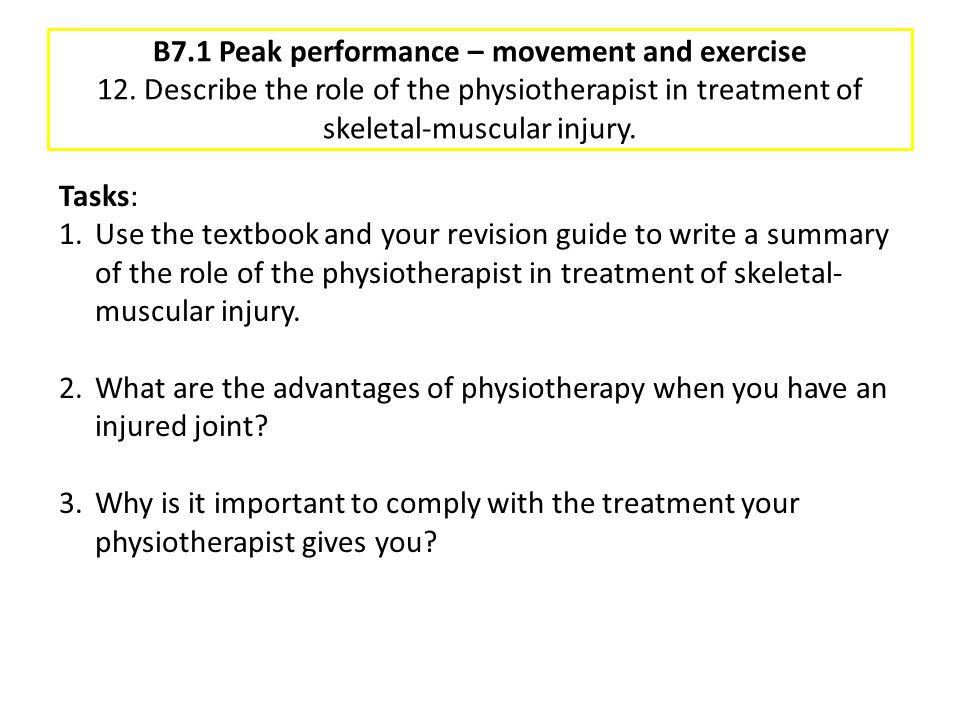 B7. 1 Peak performance – movement and exercise 12
