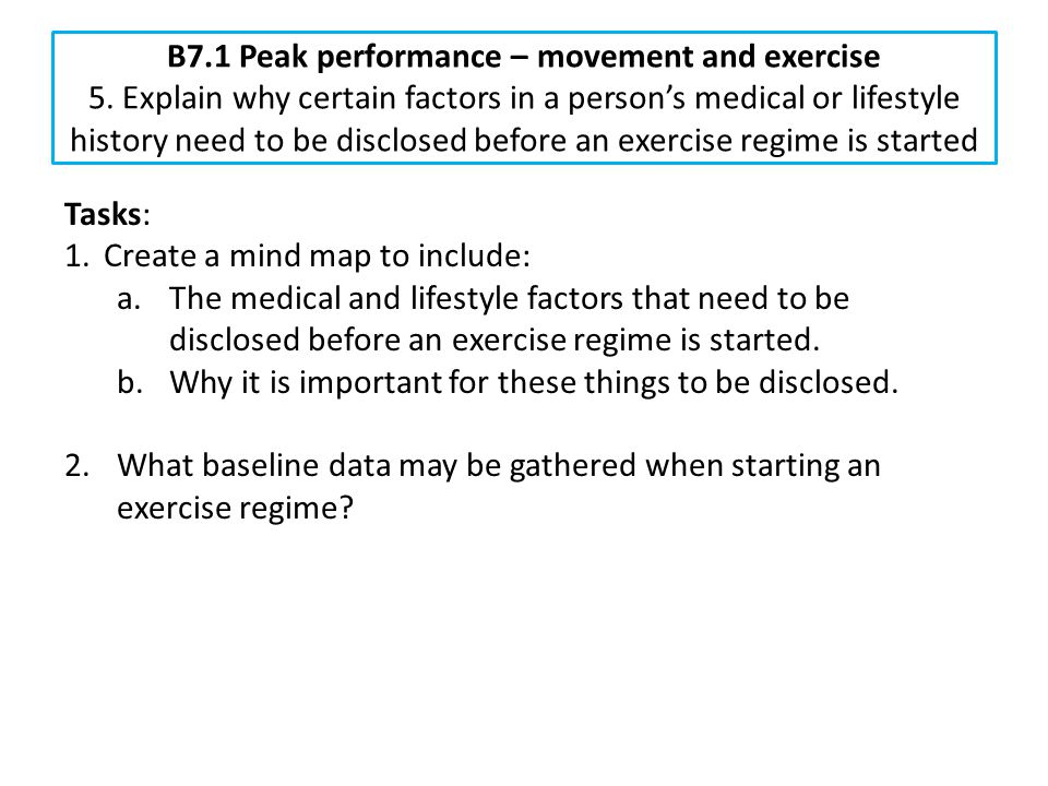 B7. 1 Peak performance – movement and exercise 5