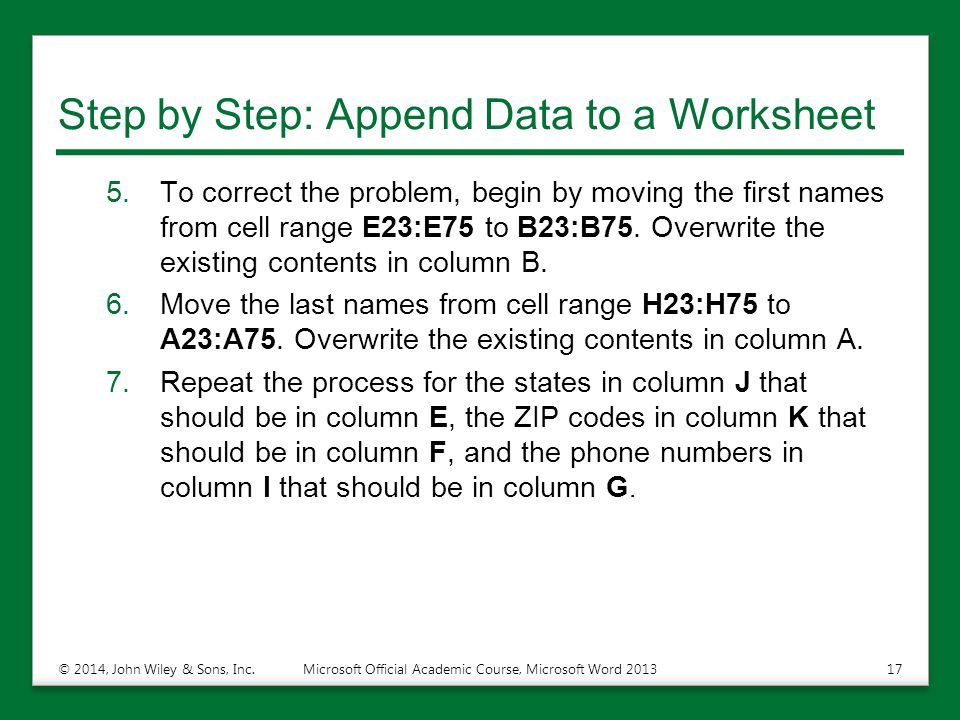 Step by Step: Append Data to a Worksheet
