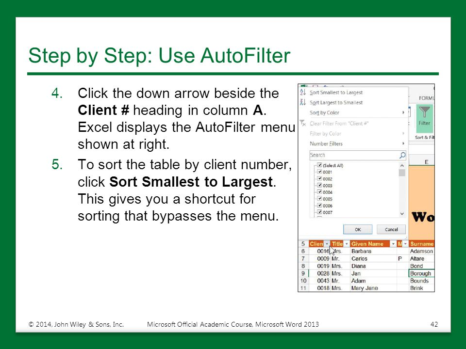 Step by Step: Use AutoFilter