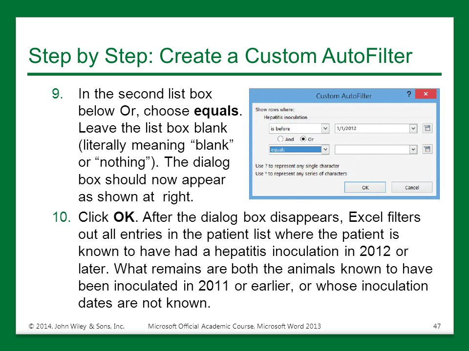 Step by Step: Create a Custom AutoFilter