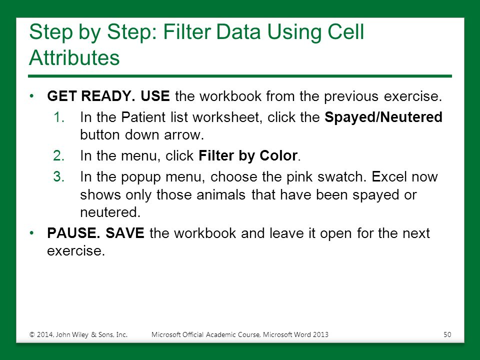 Step by Step: Filter Data Using Cell Attributes