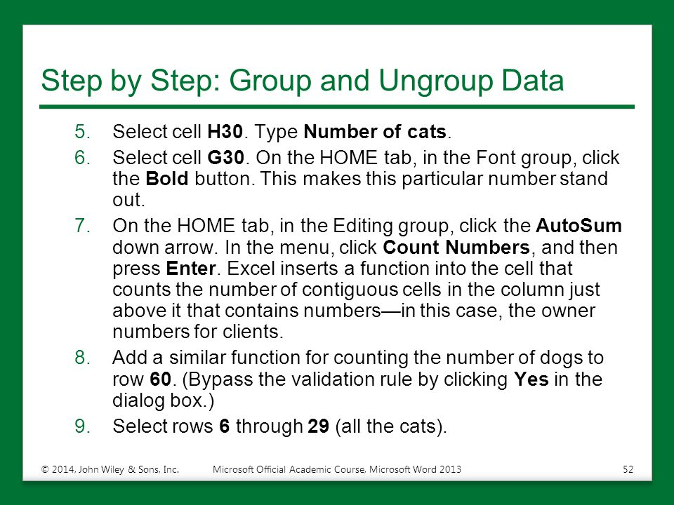 Step by Step: Group and Ungroup Data