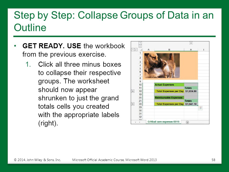 Step by Step: Collapse Groups of Data in an Outline