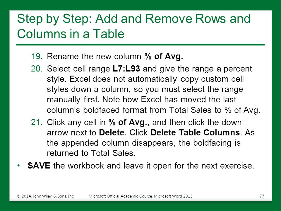 Step by Step: Add and Remove Rows and Columns in a Table