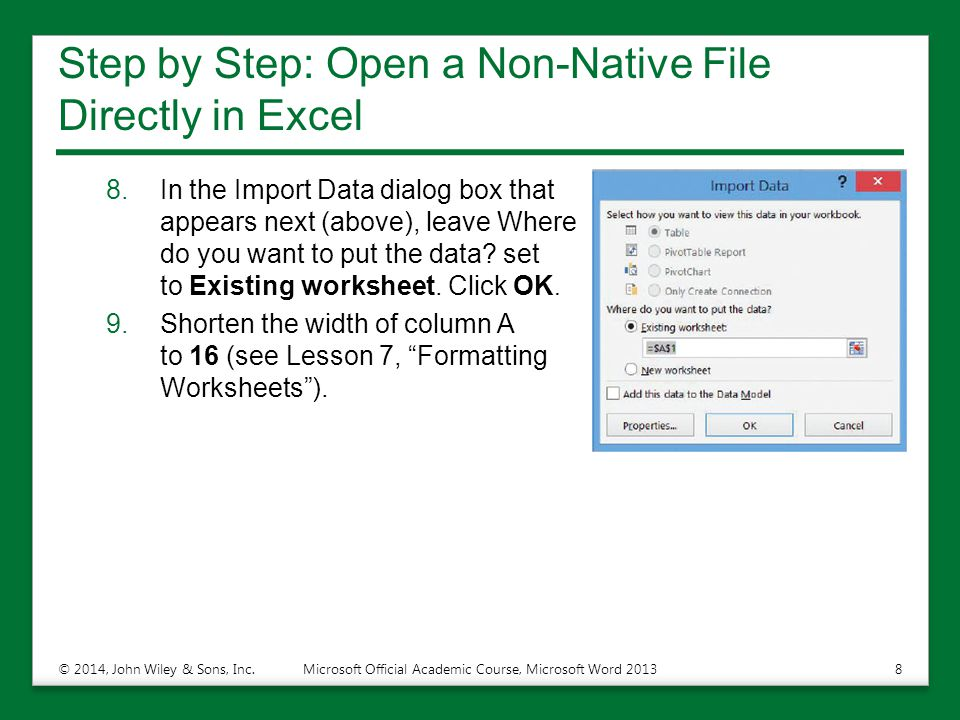 Step by Step: Open a Non-Native File Directly in Excel