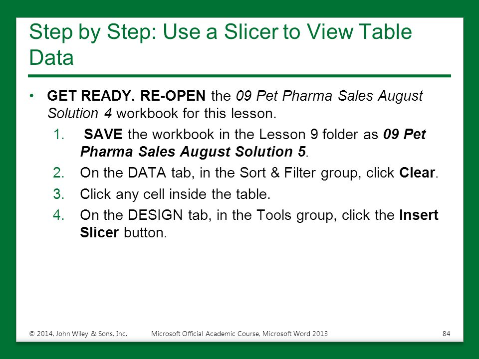Step by Step: Use a Slicer to View Table Data