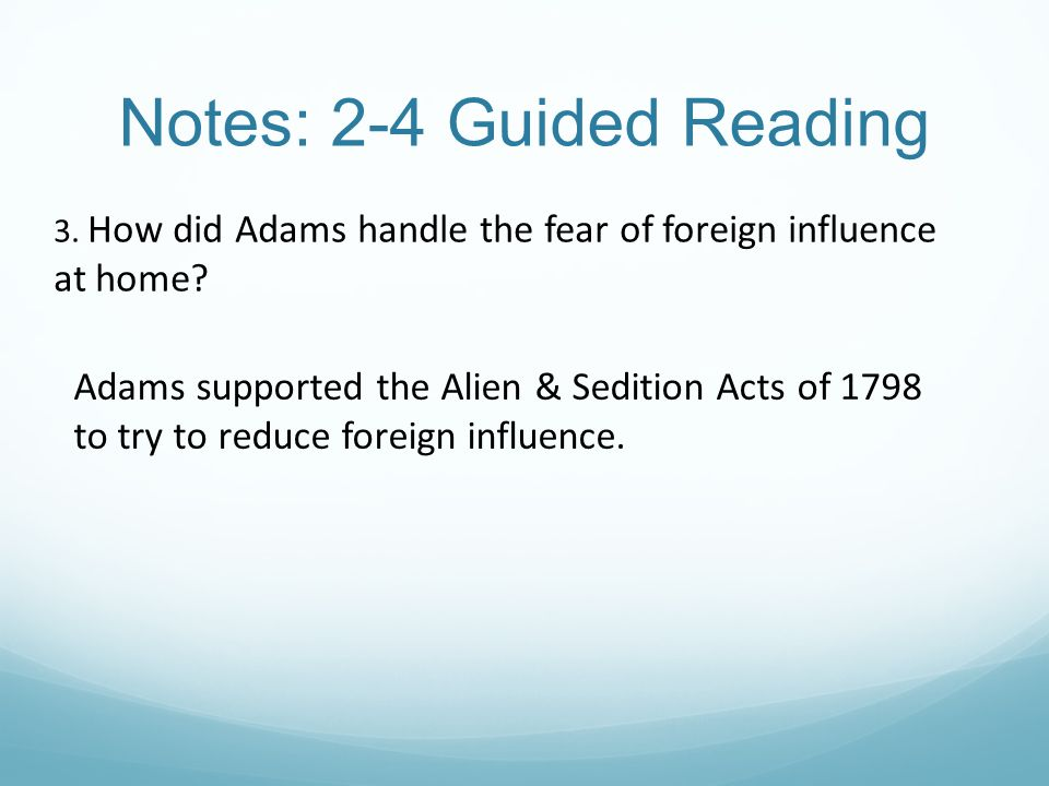 Notes: 2-4 Guided Reading