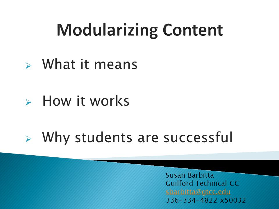 What it means How it works Why students are successful