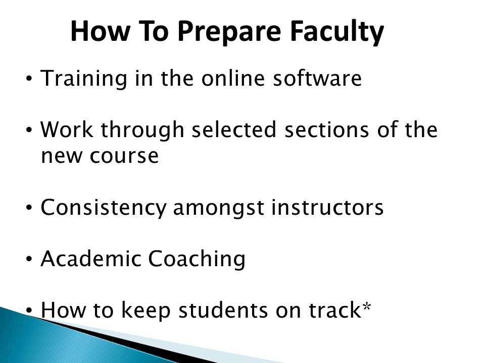 How To Prepare Faculty Training in the online software