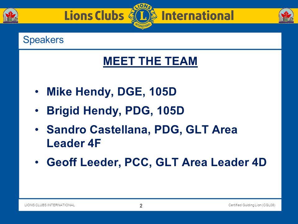 Sandro Castellana, PDG, GLT Area Leader 4F
