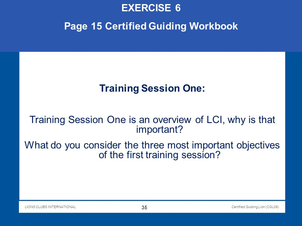 Page 15 Certified Guiding Workbook