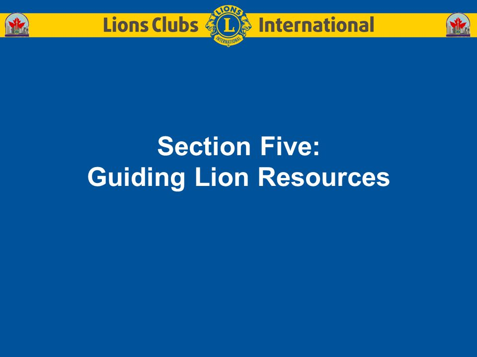 Section Five: Guiding Lion Resources