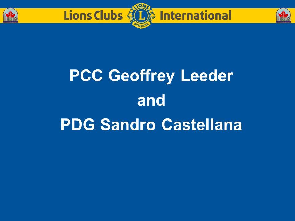 PCC Geoffrey Leeder and PDG Sandro Castellana
