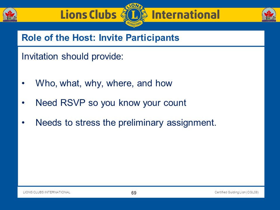 Role of the Host: Invite Participants