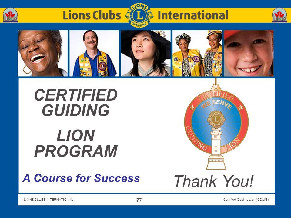 CERTIFIED GUIDING LION PROGRAM