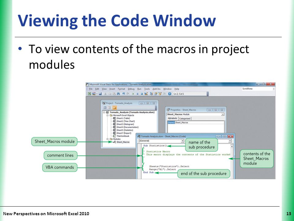 Viewing the Code Window