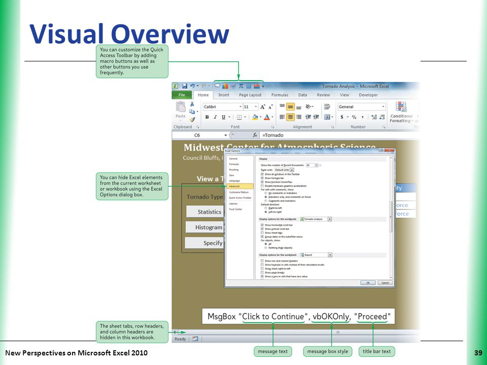 Visual Overview New Perspectives on Microsoft Excel 2010