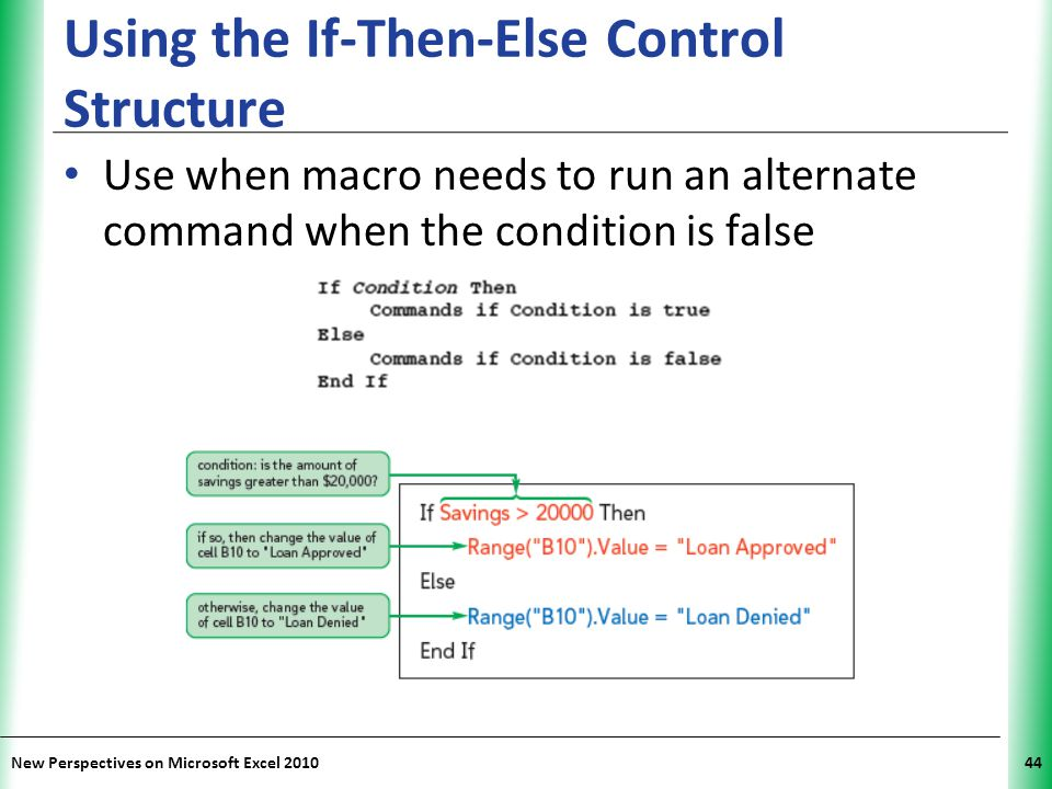 Using the If-Then-Else Control Structure
