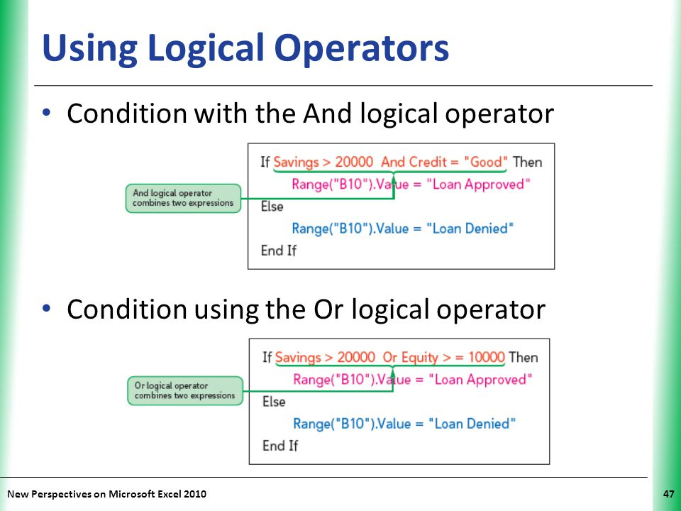 Using Logical Operators