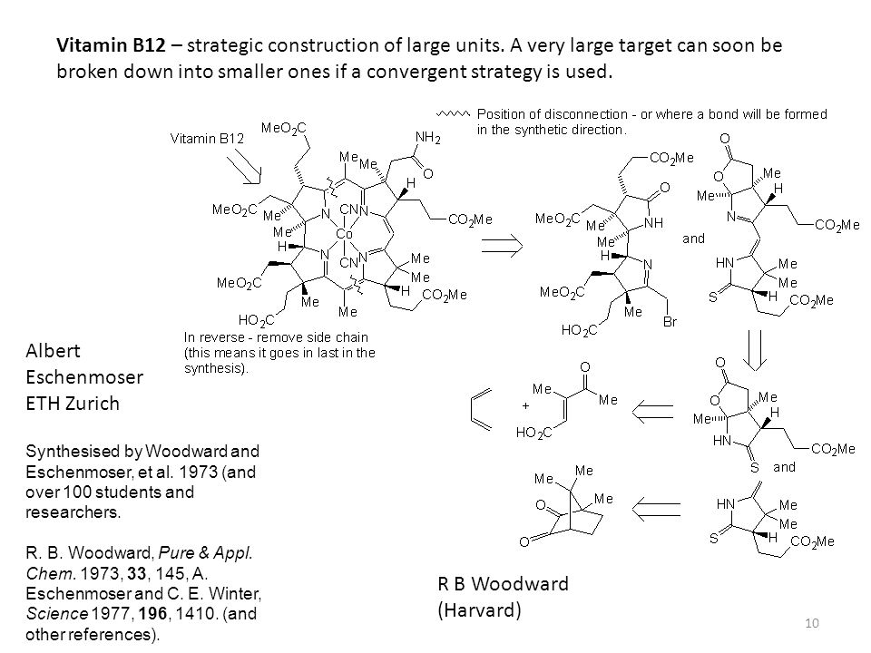 Vitamin B12 – strategic construction of large units