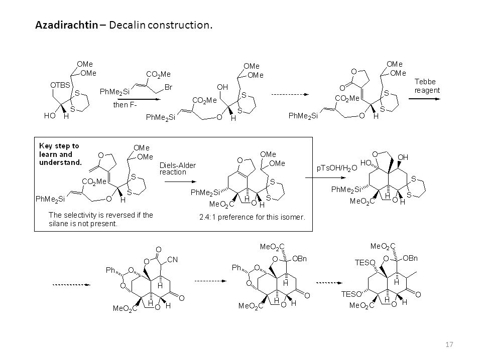 Azadirachtin – Decalin construction.