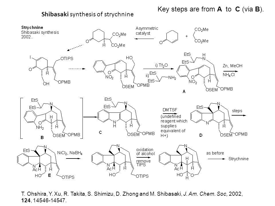 Shibasaki synthesis of strychnine