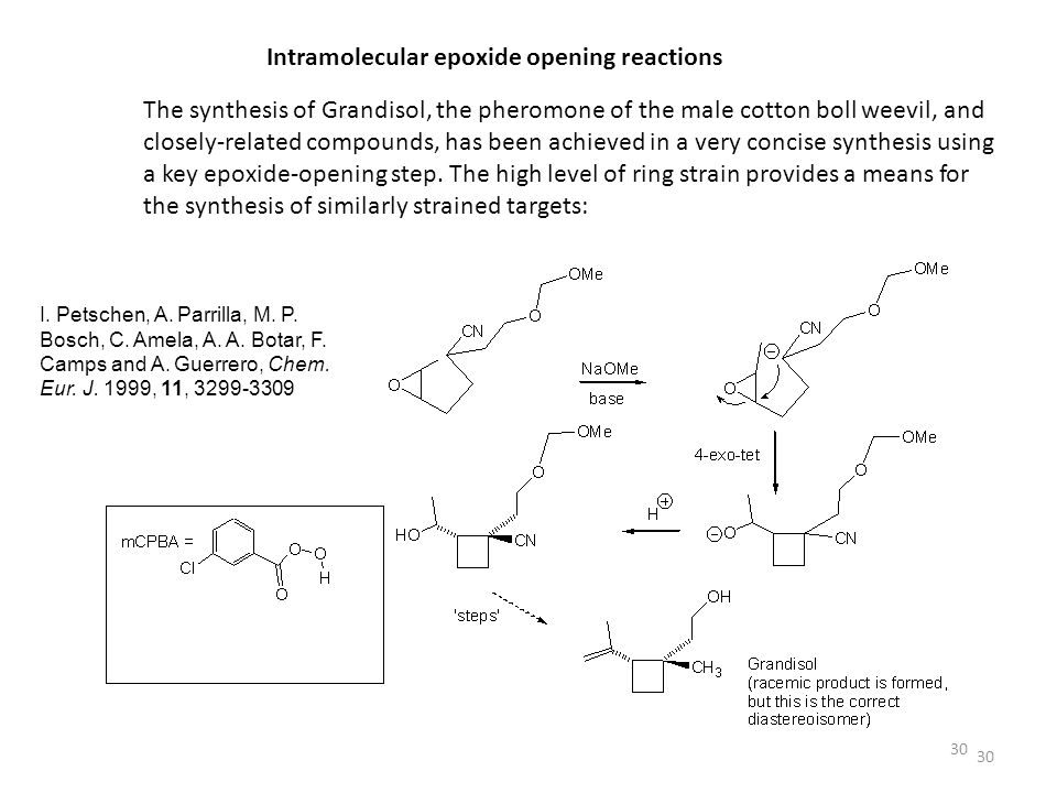 Intramolecular epoxide opening reactions
